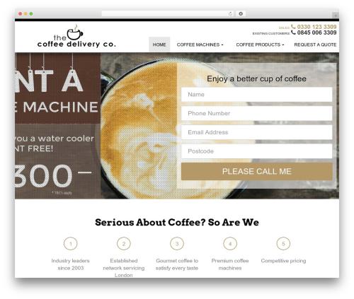 Modular company WordPress theme - thecoffeedeliverycompany.com