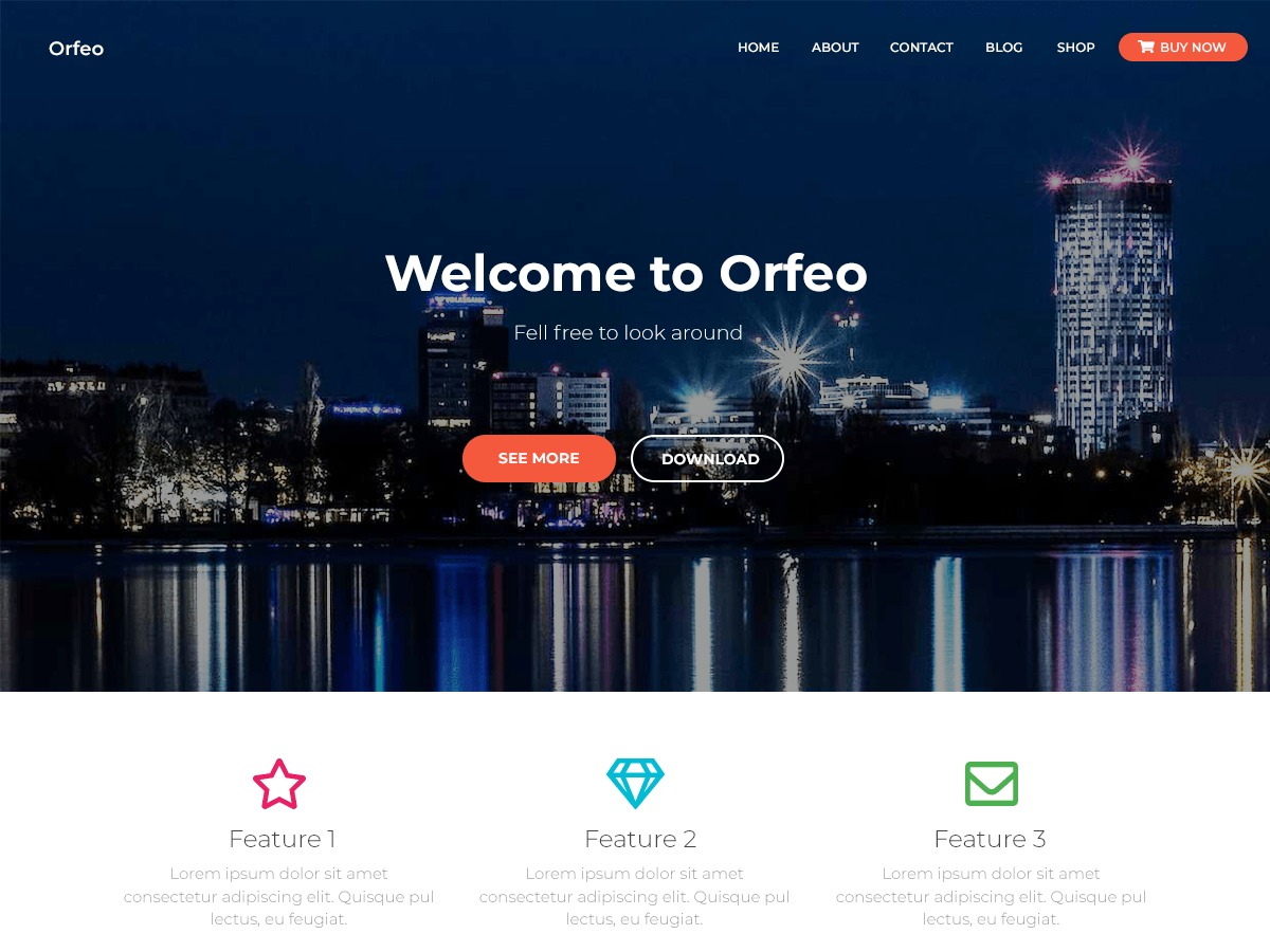 Orfeo WordPress ecommerce template