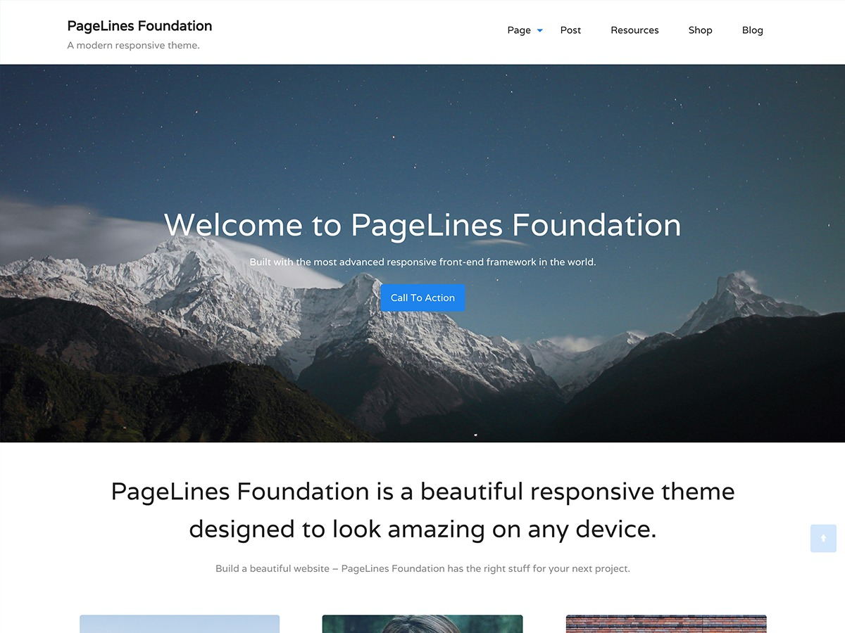 PageLines Foundation WordPress blog template
