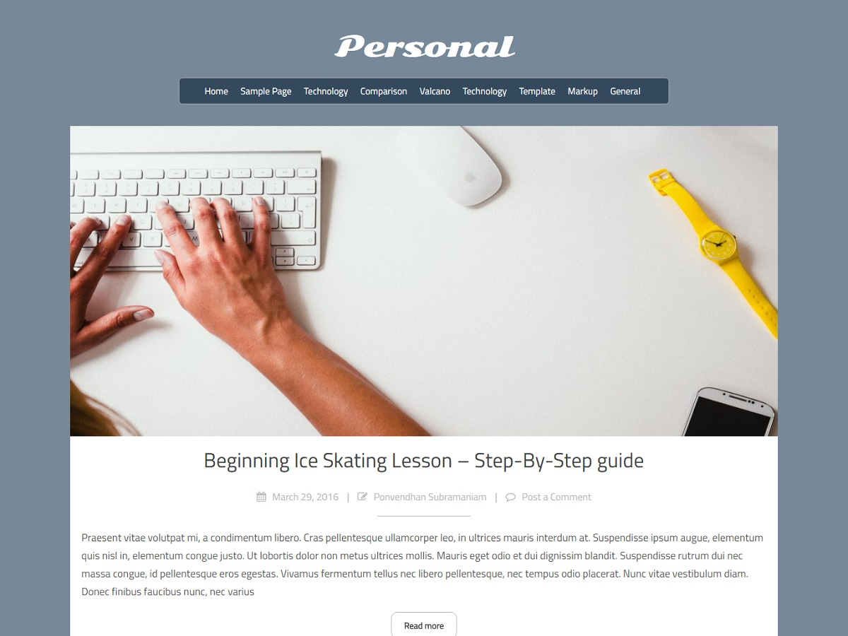 Personal lite WordPress theme free download