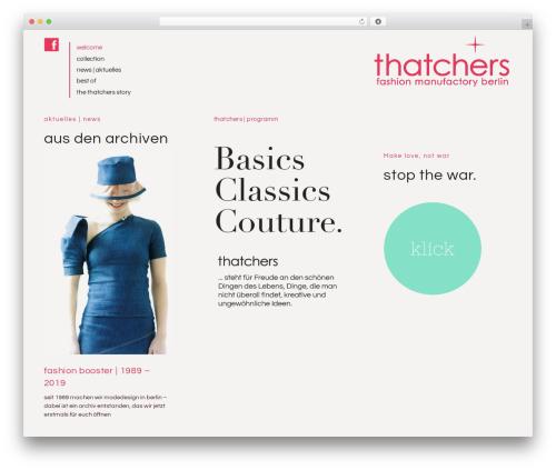 Ponsonby fashion WordPress theme - thatchers.de