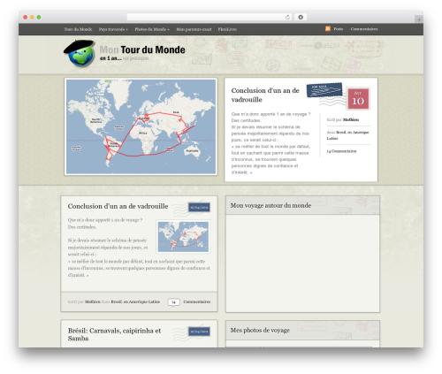 Postcard WordPress theme - tour-du-monde.me
