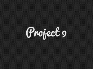 Project 9 v2 WordPress theme