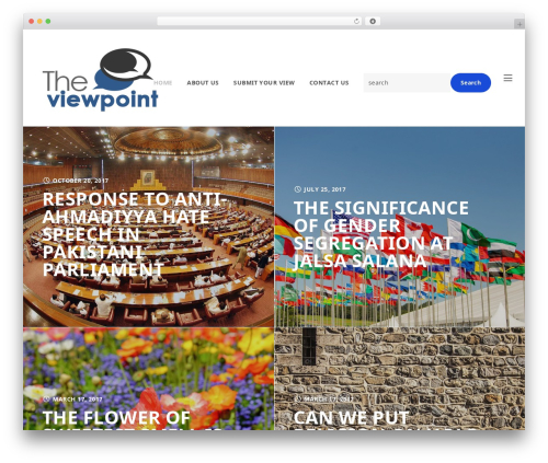 SLED WordPress blog template - theviewpoint.co
