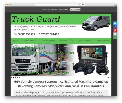 SmartShop WordPress store theme - truck-guard.co.uk