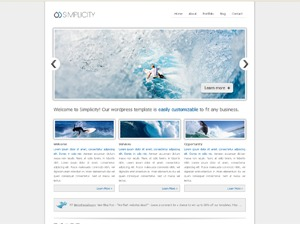 smoothbiz WordPress page template