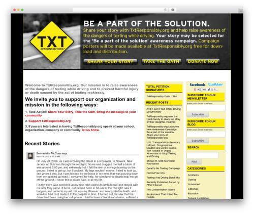 Typograph template WordPress - txtresponsibly.org
