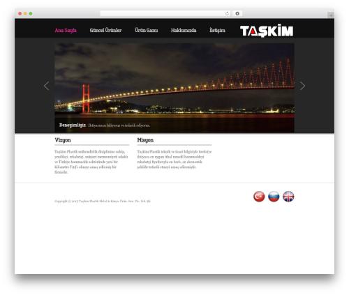 UniSphere Vision WordPress template - taskimplastik.com