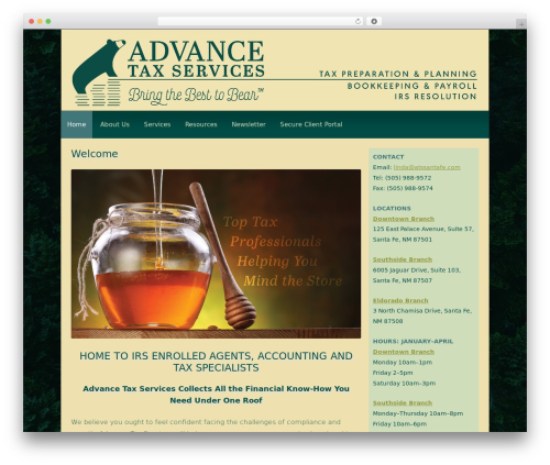WordPress theme Customized - taxessantafe.com