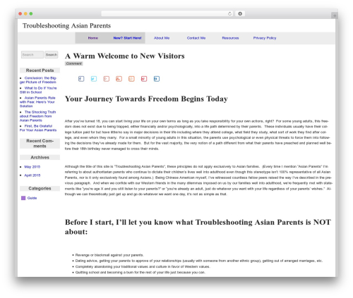WordPress theme raindrops - troubleshootingasianparents.com