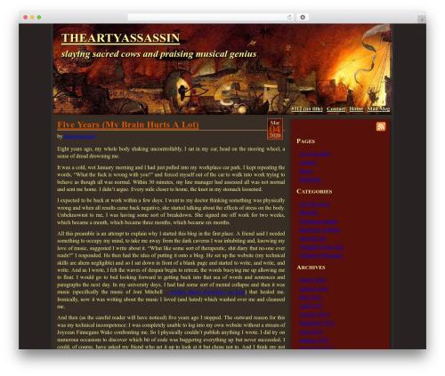 WordPress website template Mad Meg - theartyassassin.com
