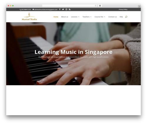 Best WordPress template Divi - musiclessonsingapore.com