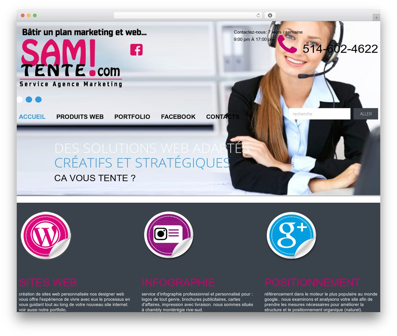 cherry WordPress theme - samtente.com