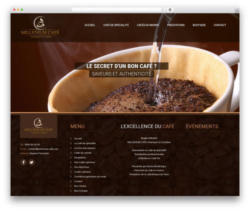 Coffee Pro premium WordPress theme - millenium-cafe.com