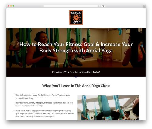 Core Fitness gym WordPress theme - suryayogakuchai.com