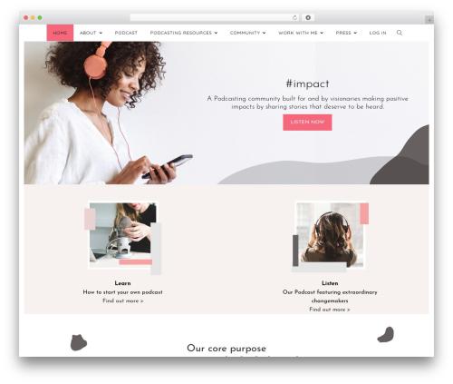 Creativo Theme WordPress theme - hashtagimpact.com