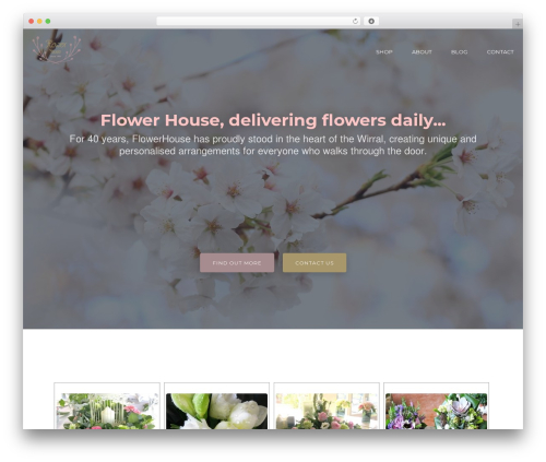 Cronus best WordPress template - flowerhousewirral.com