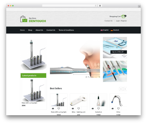 harveststore WordPress ecommerce template - dentouch.com