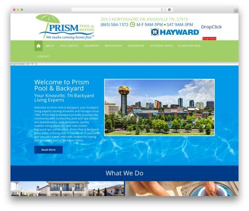 SSP Starter best WordPress template - prismpoolsknoxville.com