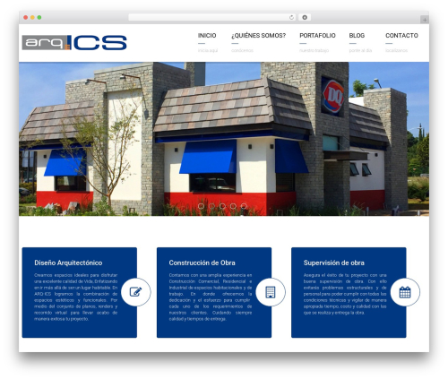 WordPress theme Arkitekt - arqics.com