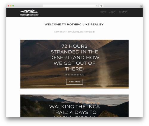 WPVoyager top WordPress theme - nothinglikereality.com