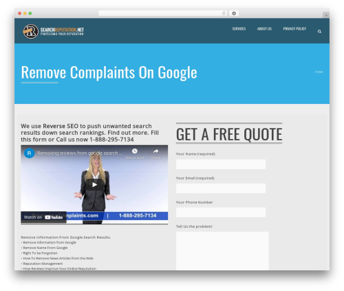 Applay WordPress theme design - removingcomplaints.com
