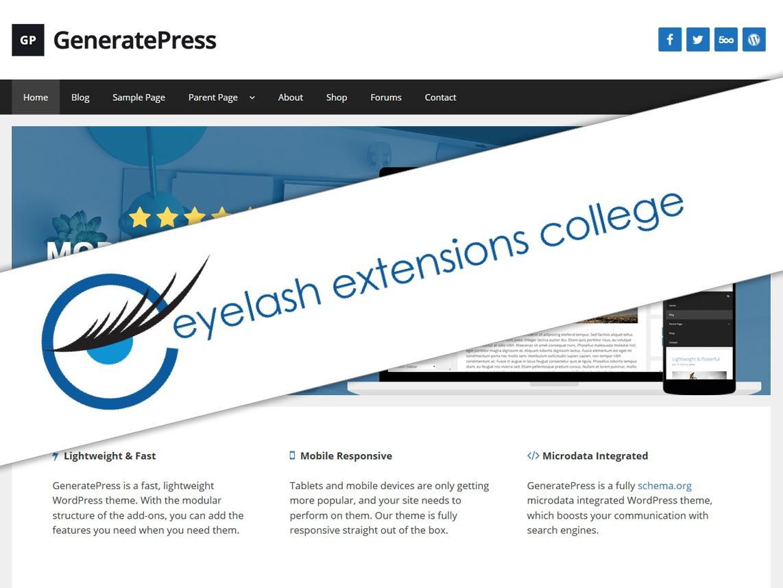Eyelash Extensions College best WordPress theme