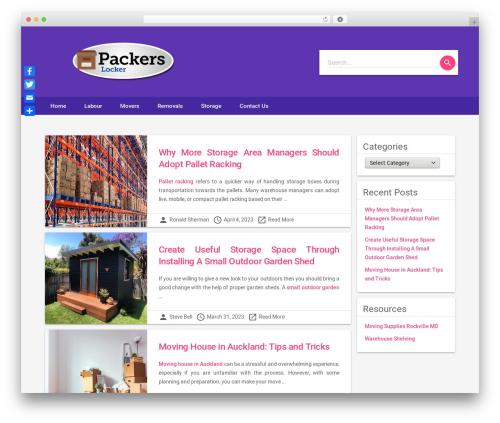 Material Lite WordPress template for business - packerslocker.com