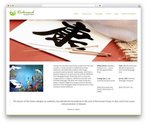 Smartr WordPress page template - richmond-acupuncture.com
