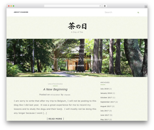 Activello WordPress theme - chanobi.com
