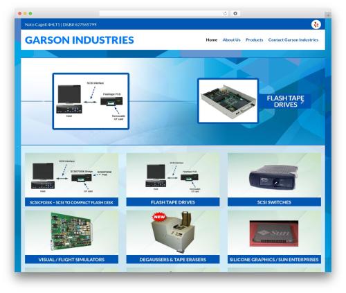 Ajusta WP theme - garsonindustries.com