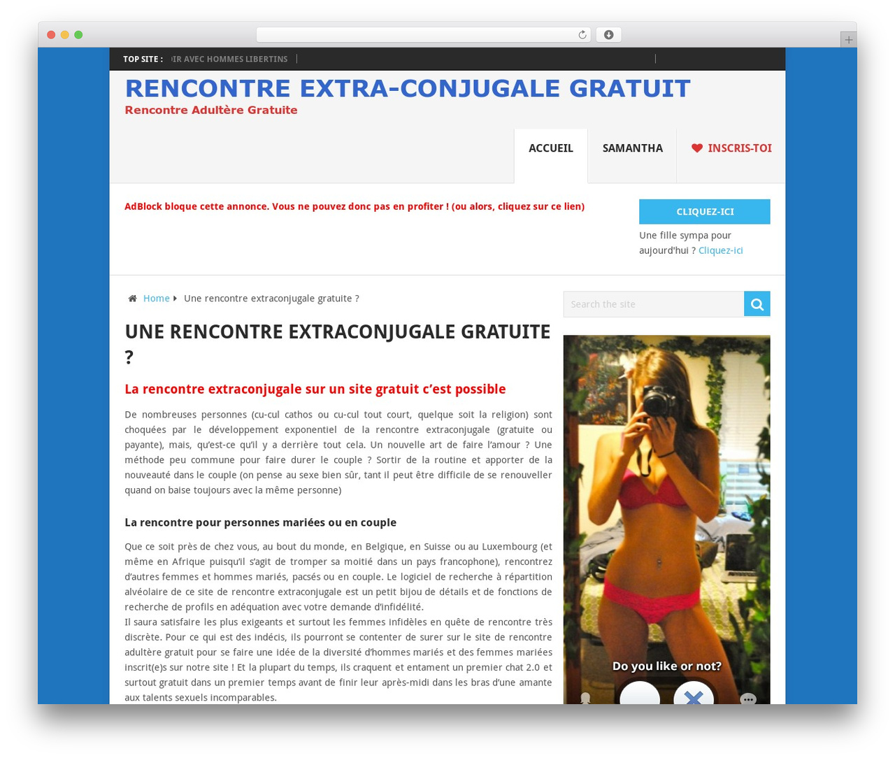 Rencontre extraconjuguale