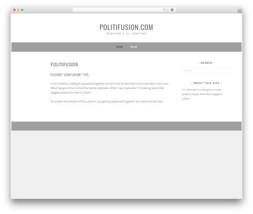 Best WordPress theme Sela - politifusion.com