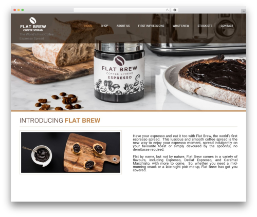 Coffee Pro WP theme - flatbrew.com