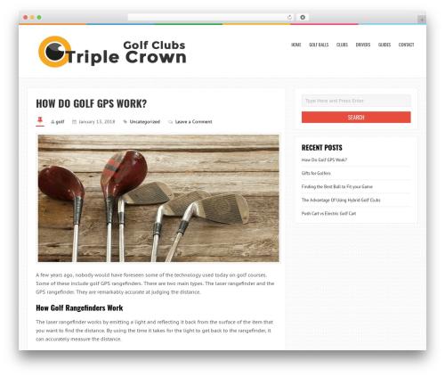 LiveBlog free WP theme - triplecrowngolfclub.com