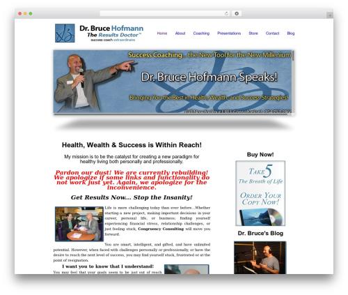 smoothbiz business WordPress theme - drbrucespeaks.com