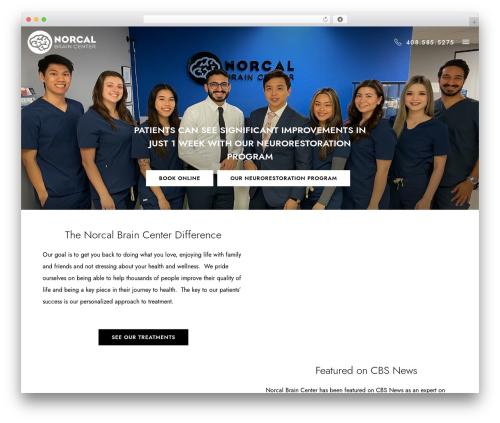 Template Pixelwebsource WordPress website template - norcalbrain.com