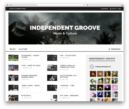 15zine   Shared By themes24x7.com best WordPress theme - independent-groove.com