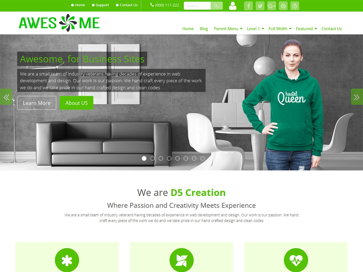 Awesome Extend WordPress theme image