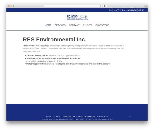 Chester WordPress theme - resenvironmental.com