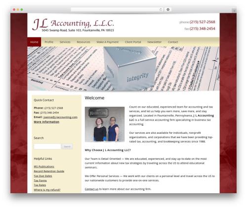 Customized top WordPress theme - j-laccounting.com