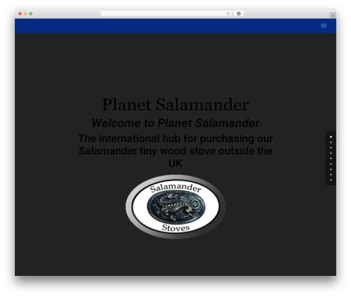 Divi WordPress page template - planetsalamander.com