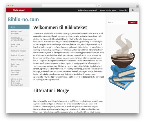 SmartAdapt WP theme - biblio-no.com