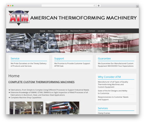 Theme WordPress BlueGray - americanthermoformingmachinery.com