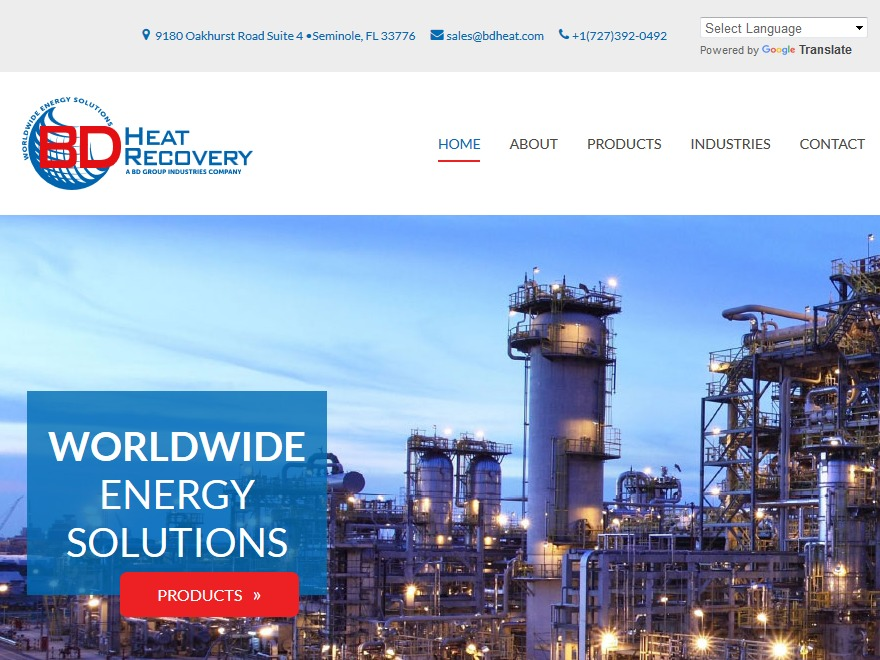 WordPress theme BDHeatRecovery