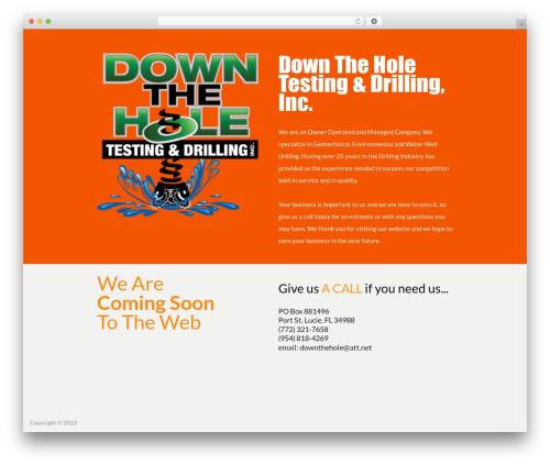 WordPress theme Divi - downtheholetestinganddrilling.com