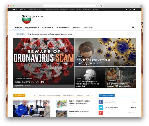 Newspaper WordPress news theme - zadgranica.com