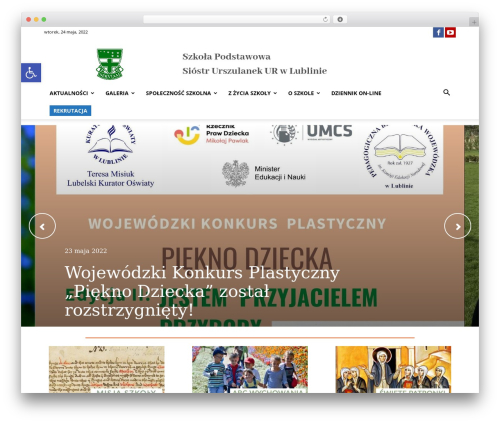 Newspaper WordPress news theme - urszulanki.lublin.eu