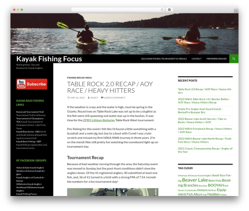 Twenty Fourteen WordPress theme free download - kayakfishingfocus.com