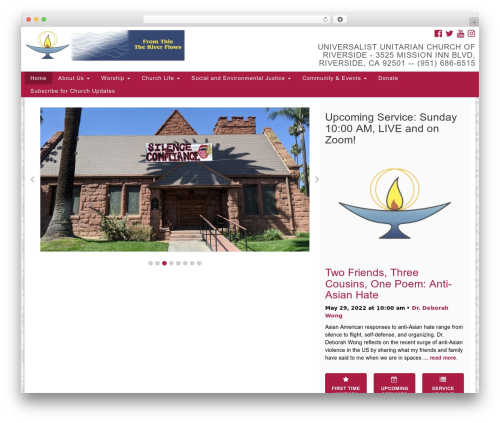Template WordPress UUA Congregation by Christopher Wulff